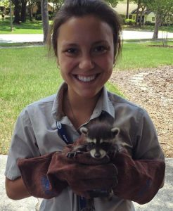 Adrienne with Raccoon